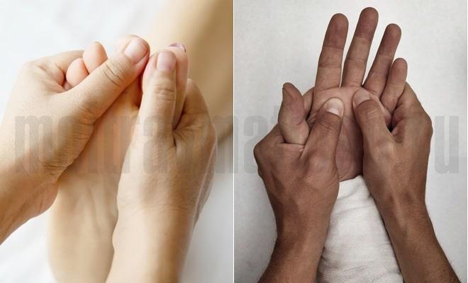 массаж стопы и кисти руки